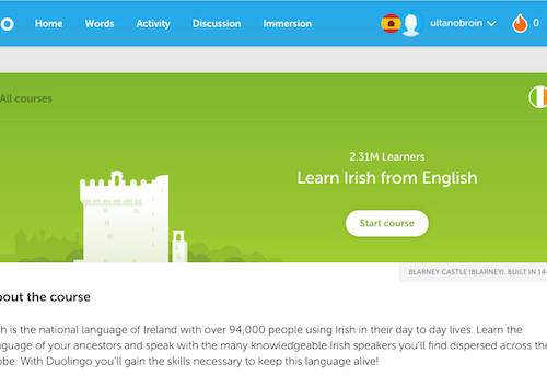 Kudos and Comhghairdeas* to Duolingo's Irish Language Volunteers