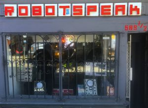 Robotspeak in San Francisco. A great store, but it's also exactly how conversational interfaces should NOT sound: like a robot. Conversational interfaces offer a natural way to deal with a multitude of digital asks and tasks and the crafting of language is critical to that intent. (Image by Ultan Ó Broin)