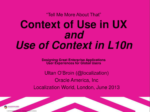 Making a great, modern, and compelling user experience is all about context. In any language.