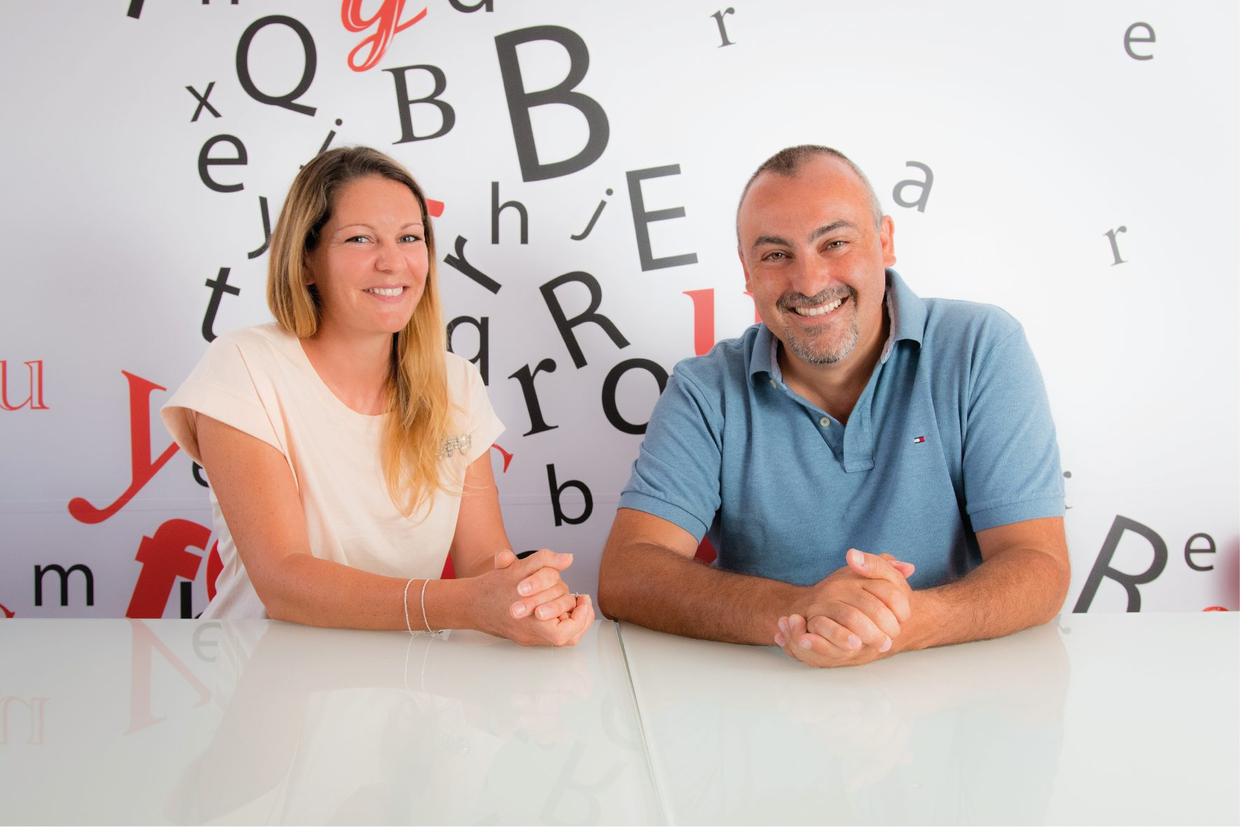 Isabelle Andrieu (left) and Marco Trombetti, co-founders of Translated