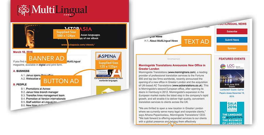 Newsletter Advertising Options