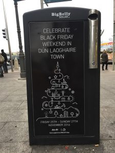 "Trash talking languages everywhere: ""Black Friday"" in Dün Laoghaire, County Dublin, Ireland. Image: Ultan O'Broin"