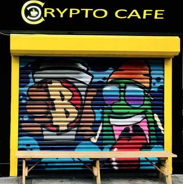 Crypto Café in Dublin, accepts cryptocurrencies and hard cash.