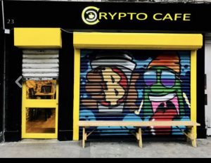 Lattés with your Litecoin? Crypto Café in Dublin, accepts cryptocurrencies and hard cash. (Image: Ultan Ó Broin)