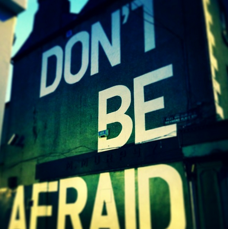 Don't Be Afraid. Wall tribute to Seamus Heaney, Portobello, Dublin by Maser Art