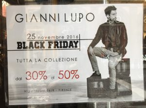 Black Friday in Florence. No translation needed. Image: Ultan O'Broin