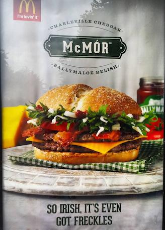 McDonalds McMór: So Irish, it's even got freckles