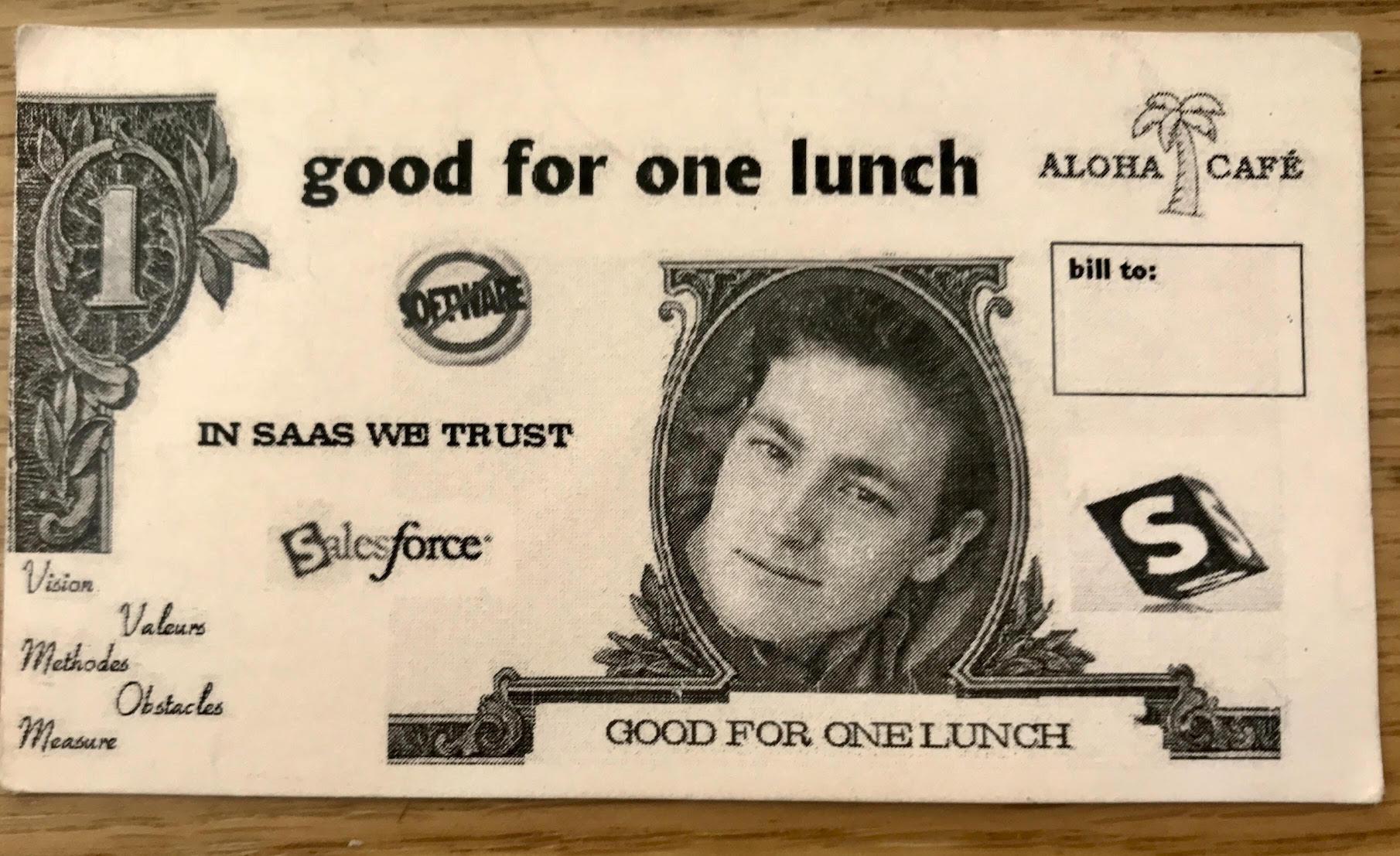 Original Localization Unconference Lunch Voucher from Salesforce