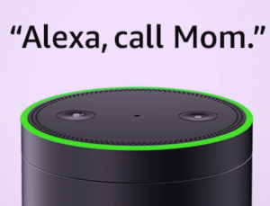 Alexa: A well-known feminist. But multilingual options are a must for voice-first customers (Amazon Echo image via Internet fair use).