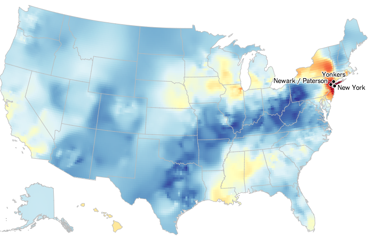 Ultan's personal dialect map (Visualization copyright of New York Times)